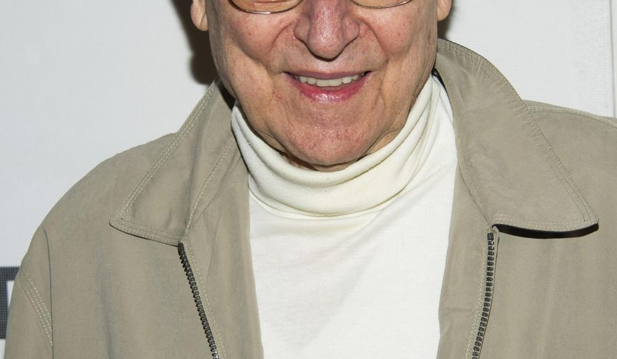 """FILE - In this April 18, 2013 file photo, John Cullum attends the premiere of """"Adult World"""" during the 2013 Tribeca Film Festival in New York.The American Theatre of Actors and The Araca Group said Friday that the off-Broadway repertory theater company's largest venue on 54th Street will be renamed in Collum's honor on Oct. 16. (Photo by Charles Sykes/Invision/AP, File)"""