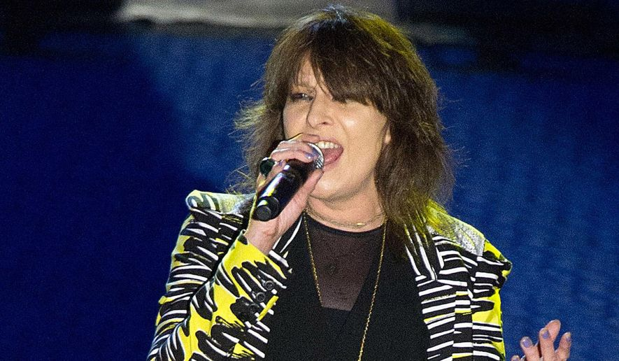 In this June 16, 2011 photo, Chrissie Hynde performs at the 42nd Annual Songwriters Hall of Fame Awards in New York. (AP Photo/Charles Sykes, File)