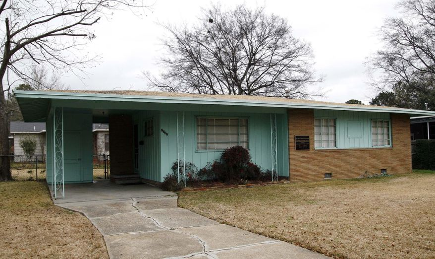 This photo taken Jan. 29, 2008, shows the house of slain civil rights leader Medgar Evers in Jackson, Miss.  Mississippi's Republican U.S. Sens. Thad Cochran and Roger Wicker said Friday, Oct. 9, 2015, they've filed a bill that would authorize a study on the national significance of the Evers home, as a step toward making it part of the National Park Service. The bill is similar to one filed earlier by U.S. Rep. Bennie Thompson, D-Miss. (AP Photo/Rogelio V. Solis)