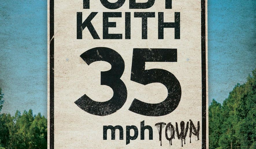 "This CD cover image released by Show Dog Universal Music shows ""35 MPH Town,"" the latest release by Toby Keith. (Show Dog Universal Music via AP)"