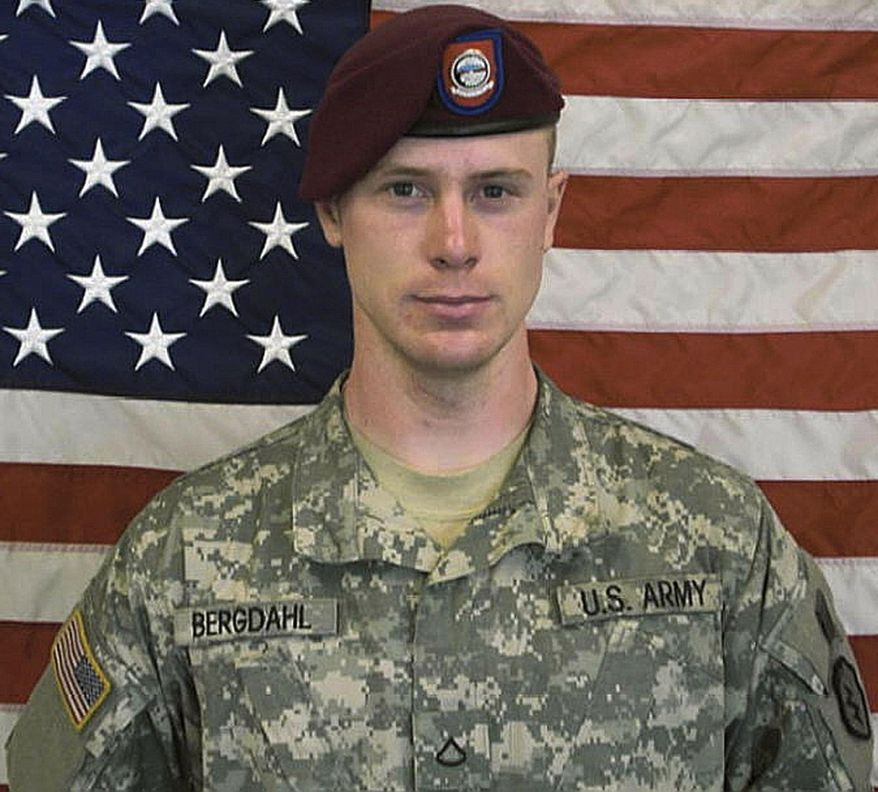 FILE - This undated file image provided by the U.S. Army shows Sgt. Bowe Bergdahl. An Army officer is recommending that Bergdahl face a lower-level court martial and be spared the possibility of jail time for leaving his post in Afghanistan, his lawyer said Saturday, Oct. 10, 2015. (U.S. Army via AP, file)