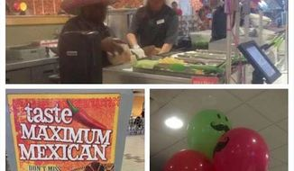 "Clemson University's ""Maximum Mexican"" night features tacos, balloons, and a mariachi band. (Image: Twitter @xoclemsonpanda)"