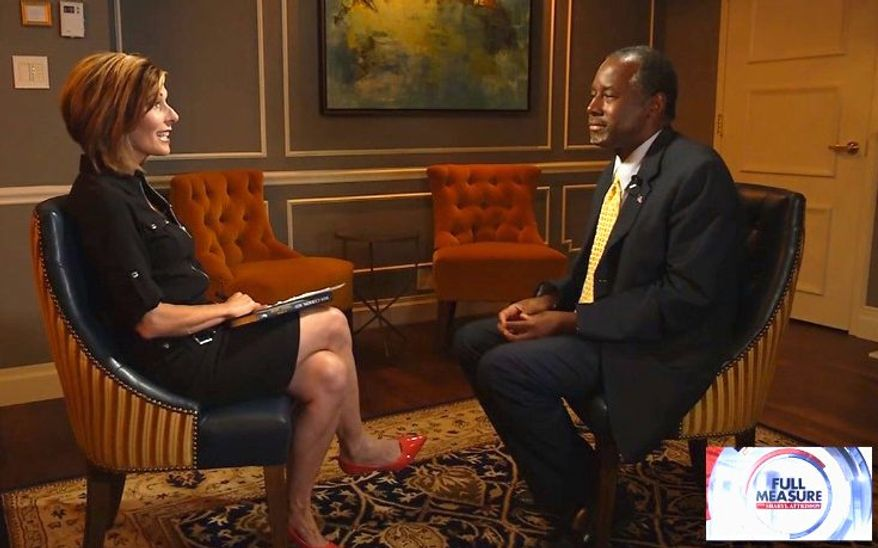 "Ben Carson appeared with Sharyl Attkisson on Sunday for the second broadcast of ""Full Measure,"" a new investigative political talk show. (Sinclair Broadcast Group)"