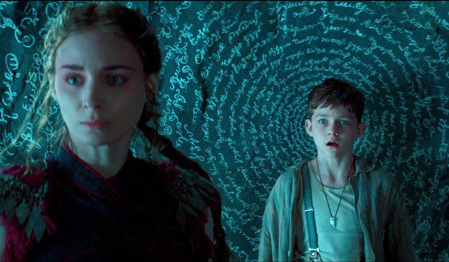 "This photo provided by courtesy of Warner Bros. Picture shows, Rooney Mara, left, as Tiger Lily, and Levi Miller as Peter, in a scene from the film ""Pan."" (Warner Bros. Pictures via AP)"