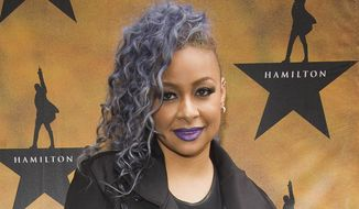 "Raven-Symone attends the Broadway opening night of ""Hamilton"" at the Richard Rodgers Theatre in New York in this Aug. 6, 2015, file photo. (Photo by Charles Sykes/Invision/AP, File)"
