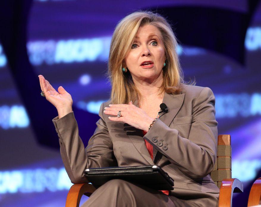 Rep. Marsha Blackburn, Tennessee Republican. (Associated Press) **FILE**