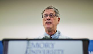 Dr. Bruce Ribner, the Emory University Hospital epidemiologist who treated U.S. Ebola patients, said declaring victory over the illness would be premature. (Associated Press)