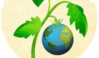 Earth Tomato Feeds on CO2 Illustration by Greg Groesch/The Washington Times