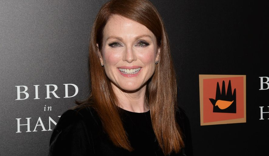 """FILE - In this Sept. 28, 2015 file photo, Julianne Moore attends a special screening of """"Freeheld"""" in New York. Moore has announced the formation of the Everytown Creative Council. She says it's an effort to organize the creative community to amplify the message of the movement to end gun violence. (Photo by Charles Sykes/Invision/AP, File)"""