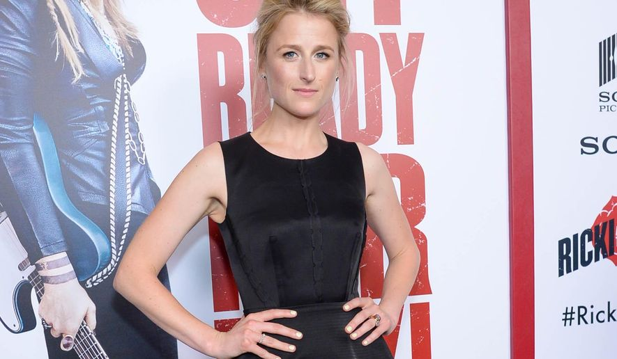 """FILE - In this Aug. 3, 2015 file photo, actress Mamie Gummer attends the premiere of """"Ricki and the Flash"""" in New York. Gummer is starring in a new play as a badly burned Afghan war veteran in """"Ugly Lies the Bone,"""" opening Tuesday, Oct. 13. (Photo by Scott Roth/Invision/AP, File)"""