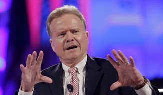 Then-Democratic presidential candidate, former Virginia Sen. Jim Webb speaks in Baltimore on June 30, 2015. (Associated Press) **FILE**