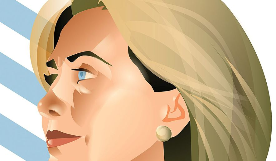 Illustration on Hillary Clinton's good showing at the Democrat candidates' debate by Linas Garsys/The Washington Times