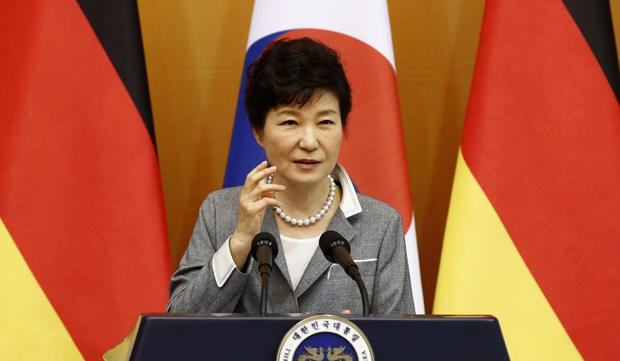 """To gain stature as a """"statesman"""" in the male-dominated South Korean political arena, President Park Geun-hye developed skills in international politics, harking back to the time when she met foreign leaders as the lady of the Blue House. As a student, she made an impression as a person of integrity and honesty who worked hard and had little patience with liars and cheaters. (Associated Press)"""