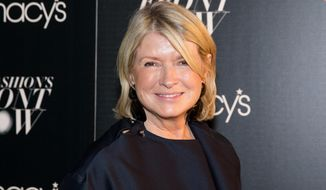 In this Sept. 17, 2015, file photo, Martha Stewart attends Macy's Presents Fashion's Front Row in New York. (Photo by Michael Zorn/Invision/AP, File)