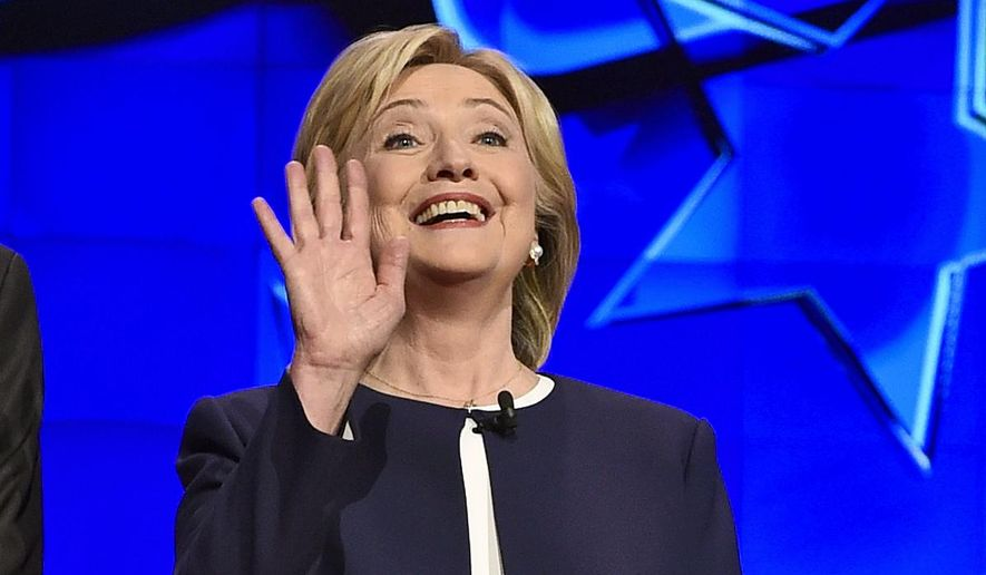Democratic presidential candidate Hillary Rodham Clinton showed her strengths at the CNN Democratic presidential debate Tuesday in Las Vegas. (AP Photo)