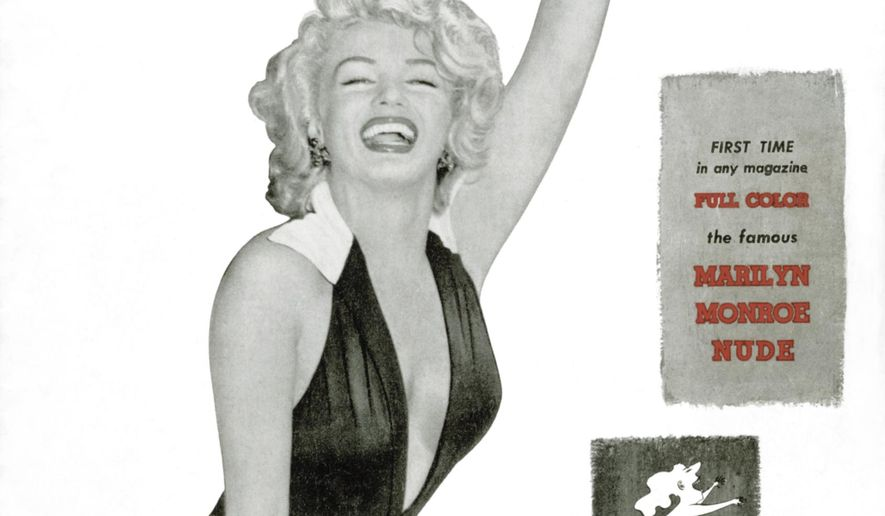This image released by Playboy shows Marilyn Monroe on the December 1953 debut issue of the gentleman's magazine. The magazine that helped usher in the sexual revolution in the 1950s and '60s by bringing nudity into America's living rooms announced this week that it will no longer run photos of completely naked women. Starting in March, 2016, Playboy's print edition will still feature women in provocative poses, but they will no longer be fully nude. (Playboy via AP)