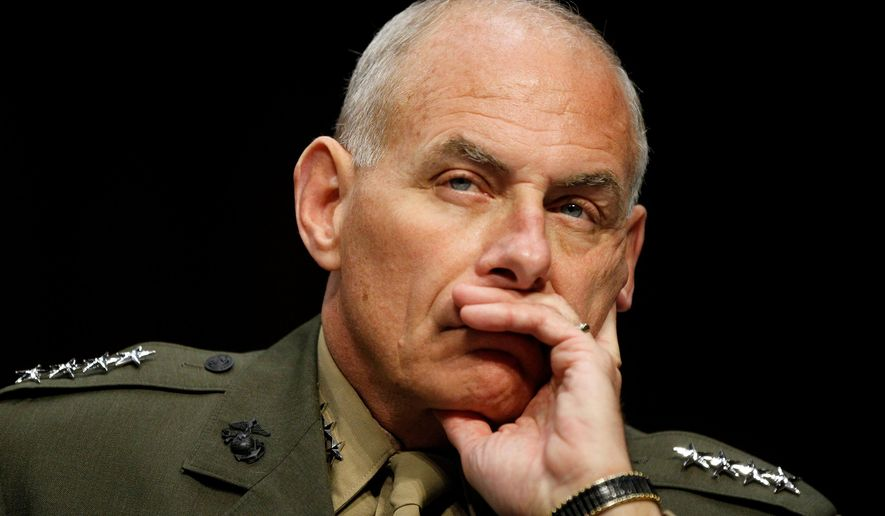 "As commander of U.S. Southern Command, Marine Gen. John F. Kelly told the Senate Armed Services Committee in 2015, ""In my opinion, the relative ease with which human smugglers moved tens of thousands of people to our nation's doorstep also serves as another warning sign: These smuggling routes are a potential vulnerability to our homeland."" (Associated Press)"