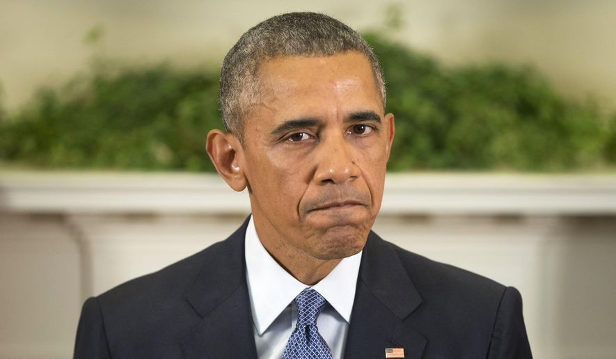 President Barack Obama pauses as he speaks about Afghanistan, Thursday, Oct. 15, 2015, in the Roosevelt Room of the White House in Washington. Obama announced that he will keep U.S. troops in Afghanistan when he leaves office in 2017, casting aside his promise to end the war on his watch and instead ensuring he hands the conflict off to his successor. (AP Photo/Pablo Martinez Monsivais)