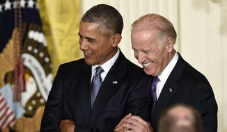 President Obama may have his hands full if Vice President Joseph R. Biden decides to try to succeed him. (AP Photo/File)