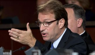 Rep. Peter Roskam, Illinois Republican, speaks on Capitol Hill in Washington on Sept. 17, 2014. (Associated Press) ** FILE **