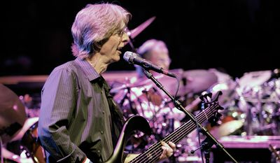 This May 9, 2009, file photo bassist Phil Lesh performs with The Dead, at the Forum in the Inglewood section of Los Angeles, Calif. Lesh says he has been diagnosed with bladder cancer and is being treated in Arizona. (AP Photo/Richard Vogel, File)