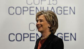 Democratic presidential front-runner Hillary Rodham Clinton has embraced the 2009 Copenhagen summit, which has left other participants disappointed. (Associated Press)
