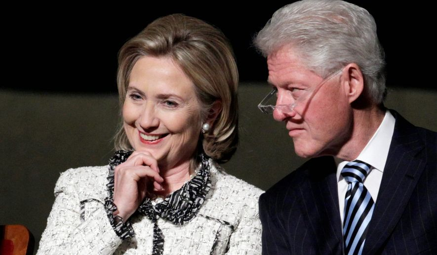A Forbes magazine analyst says Bill and Hillary Rodham Clinton are now worth $230 million, including $5 million in speaking fees, through May 14. The analyst said their fortune doesn't include equity gains. (Associated Press)