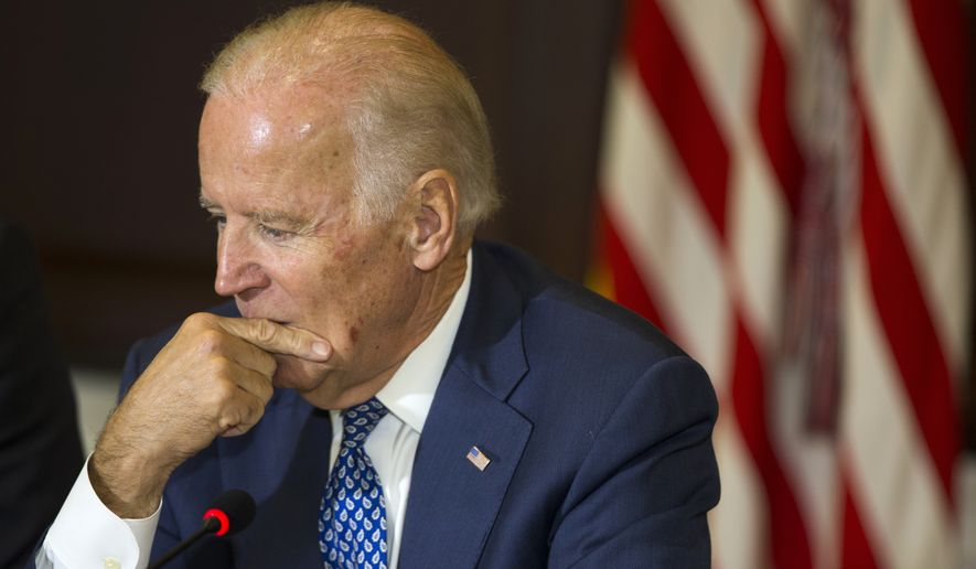 Vice President Joseph R. Biden has hemmed and hawed for months about whether to join the race, saying he didn't know if his heart is in it after the death of his son, Beau Biden, in May. (Associated Press)
