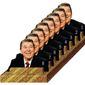 Illustration on Reagan's unflagging state of effectiveness throughout his two terms as president by Alexander Hunter/The Washington Times