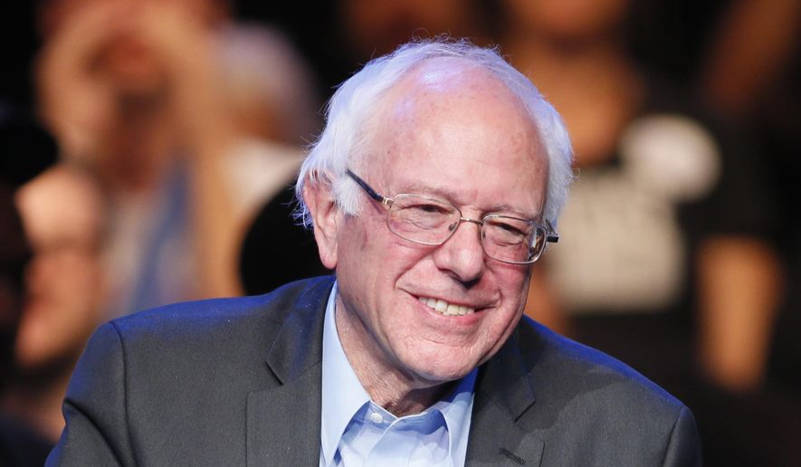 Democratic presidential candidate Sen. Bernie Sanders, of Vermont, speaks during a fundraiser at the Avalon Hollywood, in Los Angeles, in this Oct. 14, 2015, file photo. (AP Photo/Danny Moloshok, File)