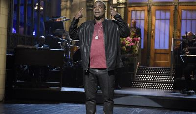 """FILE - In this Saturday, Oct. 17, 2015, file photo, provided by NBC, actor and comedian Tracy Morgan speaks during a monologue on """"Saturday Night Live,"""" in New York. After renewing his comedy career with appearances on """"Saturday Night Live"""" and at the Emmy Awards, Morgan will launch a standup tour at venues around the country this winter. The """"Tracy Morgan: Picking Up the Pieces"""" tour is set to begin Feb. 5, 2016, at the Horseshoe Casino in Hammond, Ind., it was announced on Tuesday, Oct. 20, 2015.  (Dana Edelson/NBC via AP, File)"""
