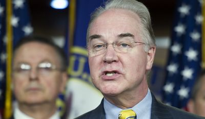 """Our national debt is spiraling out of control,"" said House Budget Committee Chairman Tom Price, Georgia Republican."