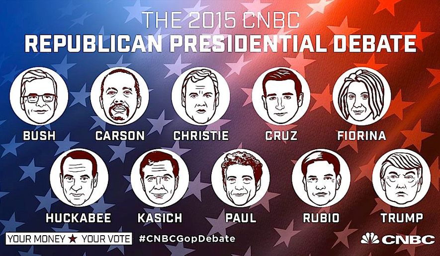 The next GOP presidential debate is next week, prompting host network CNBC to define the lineup — and who stands where. (CNBC)