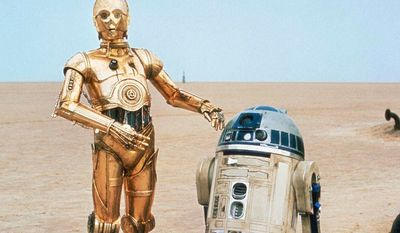 C-3PO (Anthony Daniels) is a droid programmed for etiquette and protocol, built by the heroic Jedi Anakin Skywalker, and a constant companion to astromech R2-D2 (Kenny Baker).