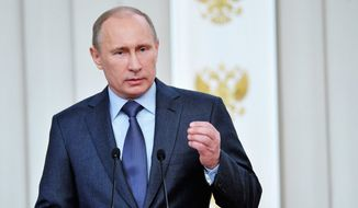 Russian President Vladimir Putin. (Associated Press) ** FILE **