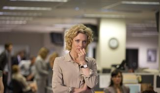 """In this image released by Sony Pictures Classics, Cate Blanchett portrays Mary Mapes in a scene from, """"Truth.""""  (Lisa Tomasetti /Sony Pictures Classics via AP)"""
