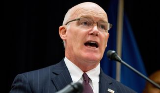 U.S. Secret Service Director Joseph Clancy speaks in Washington in this file photo on Oct. 5, 2015, file photo. (AP Photo/Andrew Harnik)