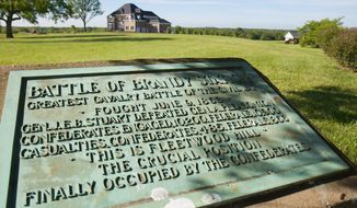 To restore the 56-acre battlefield to its Civil War glory, preservationists had to remove two houses, a garage, a pair of in-ground pools and a pool house. (Civil War Trust)