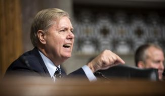 Sen. Lindsey Graham, South Carolina Republican and presidential candidate, is a member of the Senate Armed Services Committee. (Associated Press/File)