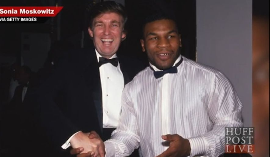 Former heavyweight champ Mike Tyson has officially endorsed Donald Trump for president in 2016. (Getty via HuffPost Live)
