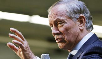 """""""It is ... not appropriate to think that human activity — putting CO2 into the atmosphere — doesn't make the Earth warmer. All things being equal, it does. It is uncontroverted,"""" said former New York Gov. George Pataki. (Associated Press)"""