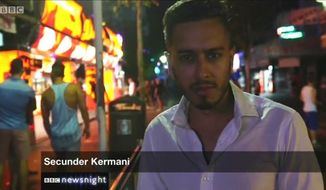 "U.K. police have used powers under the Terrorism Act to seize the laptop of BBC ""Newsnight"" journalist Secunder Kermani, who has reported extensively on British-born jihadis. (Facebook/@Secunder Kermani)"