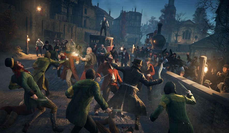 """This image released by Ubisoft shows a scene from """"Assassin's Creed Syndicate."""" (Ubisoft via AP)"""