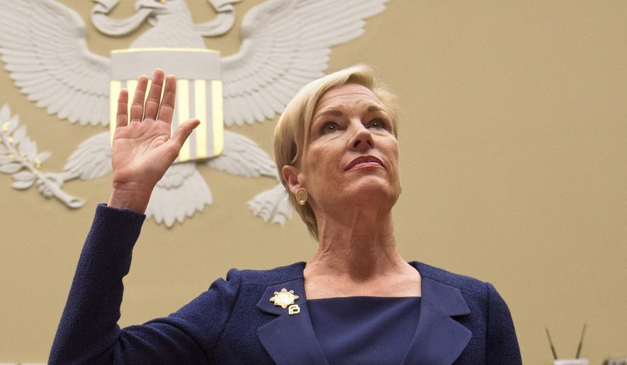 Planned Parenthood Federation of America President Cecile Richards is sworn in on Capitol Hill prior to testifying before the House Oversight and Government Reform Committee hearing on Planned Parenthood's Taxpayer Funding.  (AP Photo/Jacquelyn Martin, File)