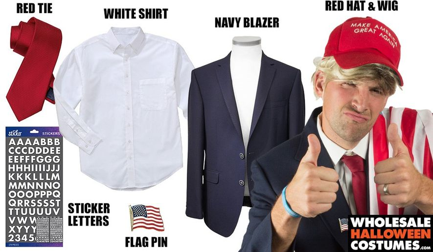 Pulling off a Donald Trump costume is actually a very simple matter (WholesaleHalloweenCostumes.com)