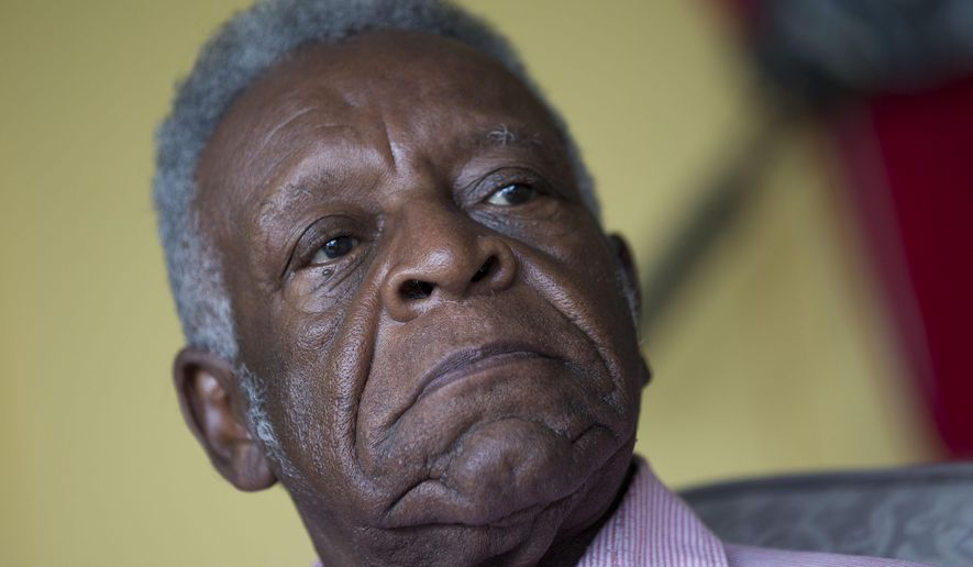 Eddie Hood speaks during an interview at his home in Rome, Ga.,  Wednesday, Oct. 28, 2015.  Hood was a potential juror in the murder trial of Timothy T. Foster who was convicted and sentenced to death for the murder of an elderly white woman in 1987. The U.S. Supreme Court will consider whether prosecutors improperly singled out potential black jurors, including Hood, in notes and then excluded them all from the death penalty trial. (AP Photo/ John Bazemore)