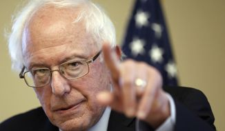 Sen. Bernie Sanders, Vermont independent and Democratic presidential candidate, speaks during a campaign stop at the William B. Cashin Senior Activity Center in Manchester, N.H., on Oct. 30, 2015. (Associated Press) **FILE**
