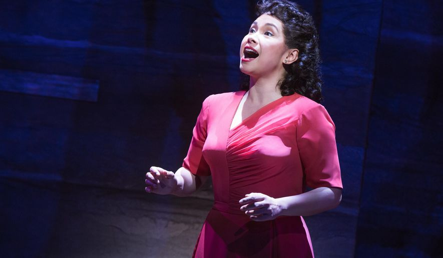 """This image provided by The O & M Company shows actress Lea Salonga during a performance of """"Allegiance,"""" in New York. (Matthew Murphy/The O & M Company via AP)"""