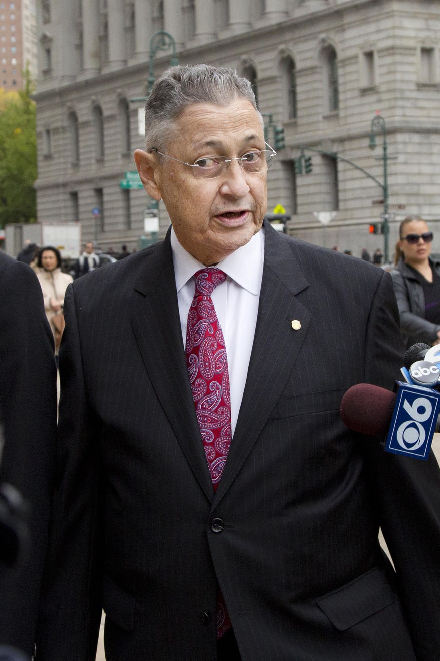 Former New York Assembly Speaker Sheldon Silver arrives for jury selection in his trial, Monday, Nov. 2, 2015 in New York. The consummate operator who influenced nearly every major legislative decision over more than two decades, is on trial accused of taking nearly $4 million in payoffs and kickbacks characterized as attorney referral fees. (AP Photo/Mark Lennihan)