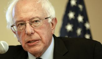 Sen. Bernie Sanders, Vermont independent and Democratic presidential candidate, speaks in Manchester, N.H., on Oct. 30, 2015. (Associated Press) **FILE**